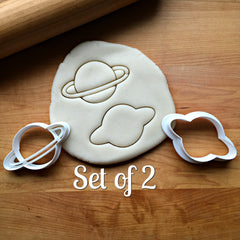 Set of 2 Planet Saturn Cookie Cutters/Dishwasher Safe