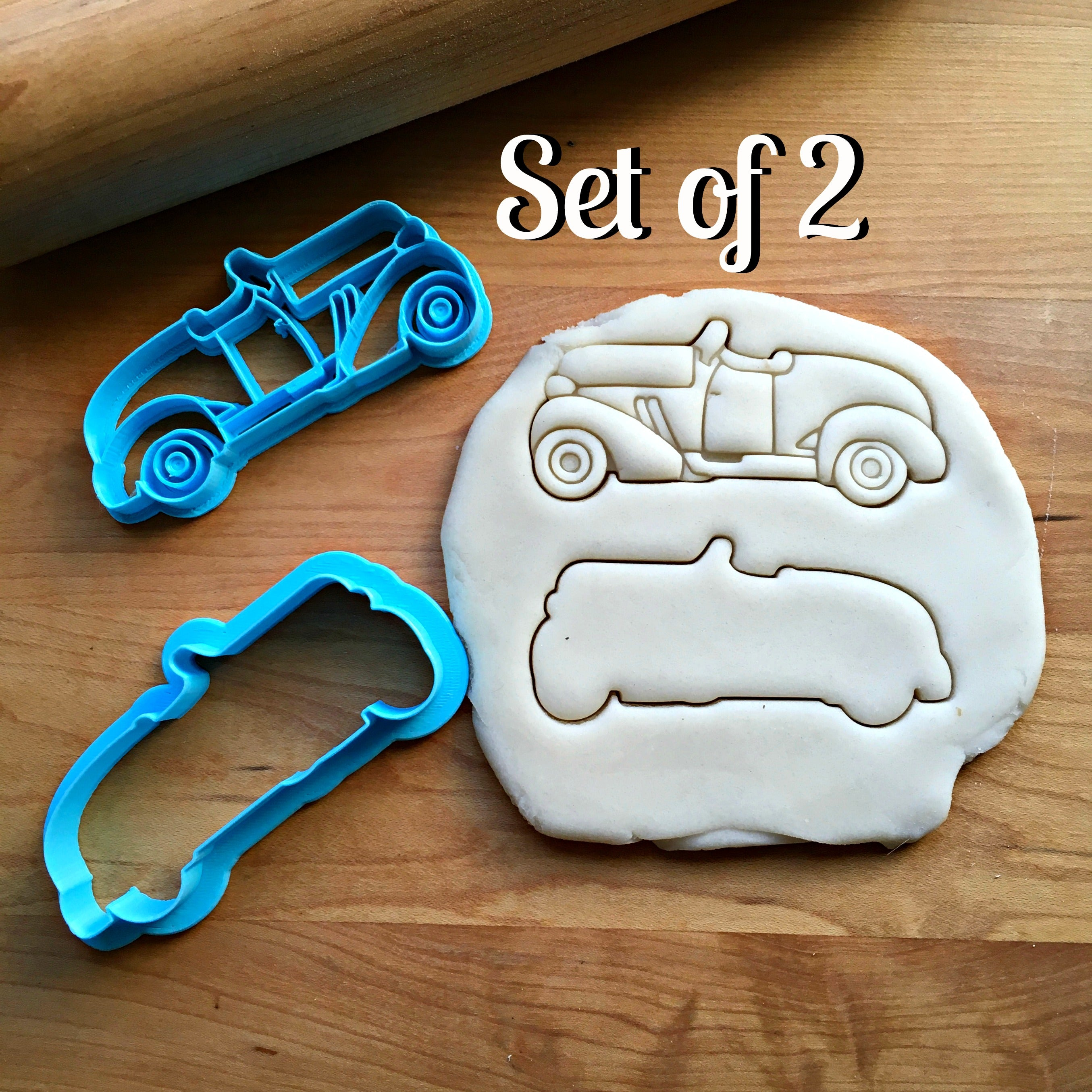 Set of 2 Roadster Cookie Cutters/Dishwasher Safe