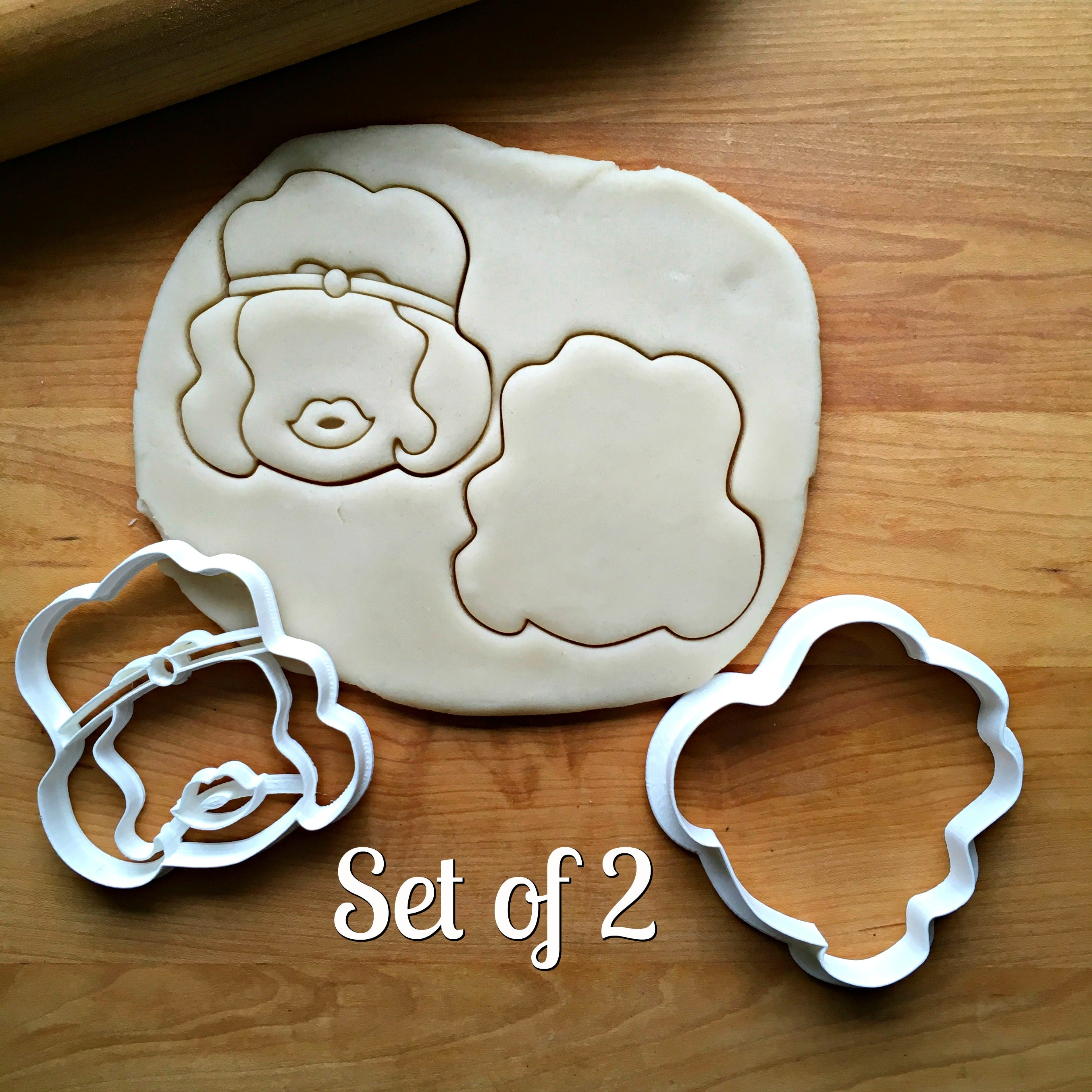 Set of 2 Flapper Girl Cookie Cutters/Dishwasher Safe