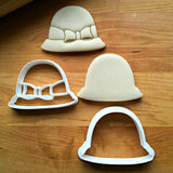 Set of 2 Bucket Hat with Bow Cookie Cutters/Dishwasher Safe