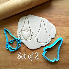Set of 2 Gnome Cookie Cutters/Dishwasher Safe