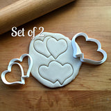 Set of 2 Double Hearts Cookie Cutter/Dishwasher Safe