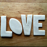 Set of 4 LOVE Football Cookie Cutters/Dishwasher Safe