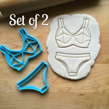 Set of 2 Bikini Top and Bottom Cookie Cutters/Dishwasher Safe