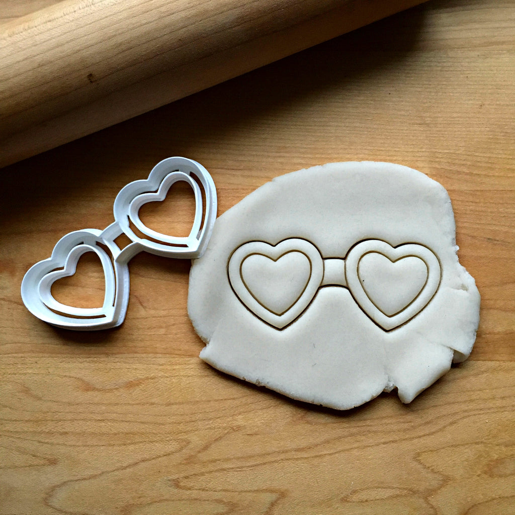 Heart Shaped Glasses Cookie Cutter/Dishwasher Safe