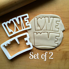 Set of 2 LOVE Cookie Cutters/Dishwasher Safe