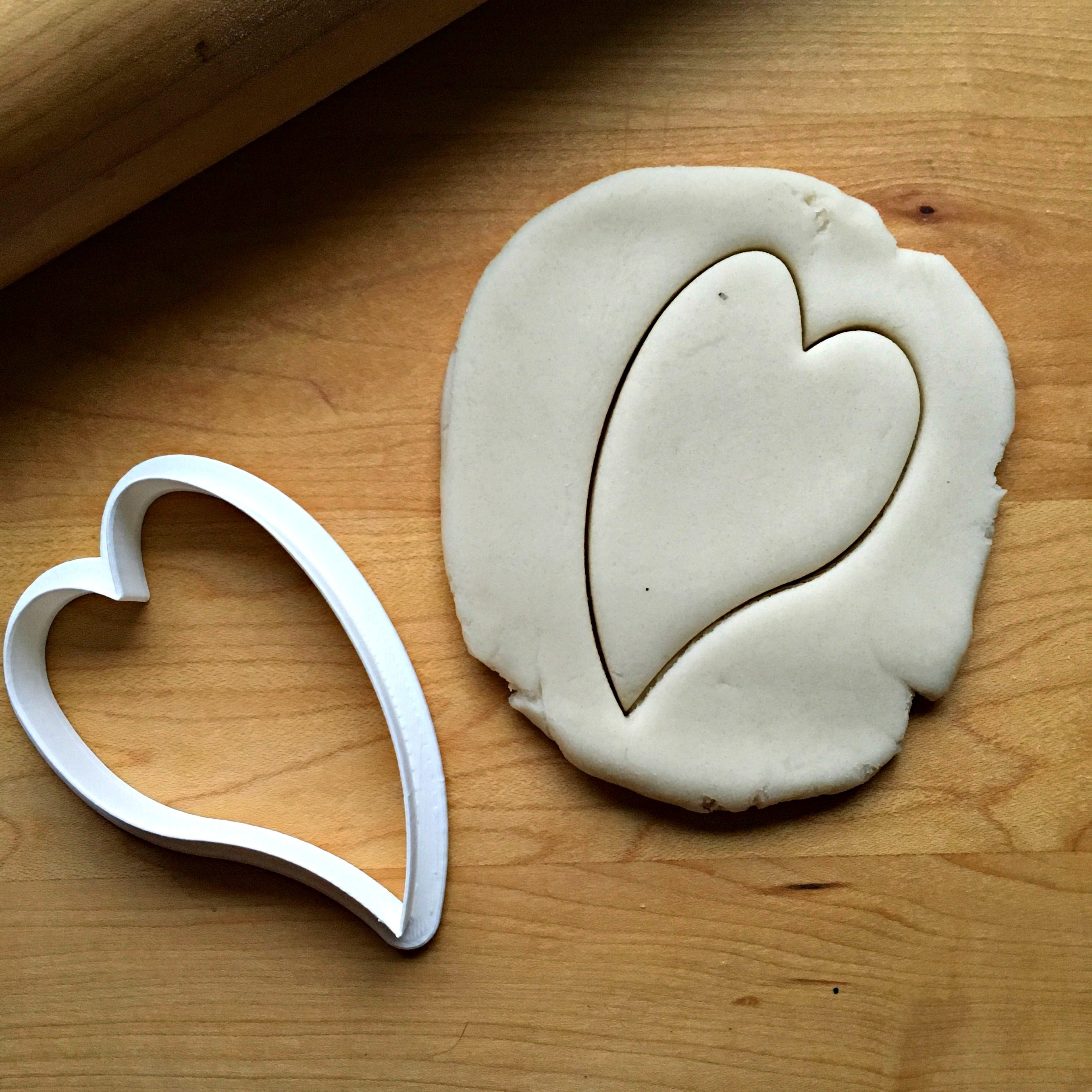 Skinny Canted Heart Cookie Cutter/Dishwasher Safe