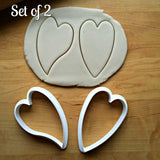 Set of 2 Skinny Heart Cookie Cutters/Dishwasher Safe
