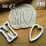 Set of 2 MOM Cookie Cutters/Dishwasher Safe