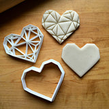 Set of 2 Geometric Heart Cookie Cutters/Dishwasher Safe