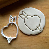 Heart with Arrow Cookie Cutter/Dishwasher Safe