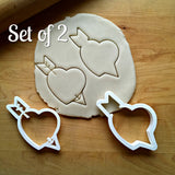 Set of 2 Heart with Arrow Cookie Cutters/Dishwasher Safe