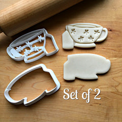 Set of 2 Flower Teacup Cookie Cutters/Dishwasher Safe