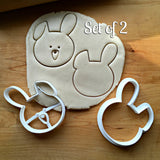Set of 2 Cute Bunny Face Cookie Cutters/Dishwasher Safe