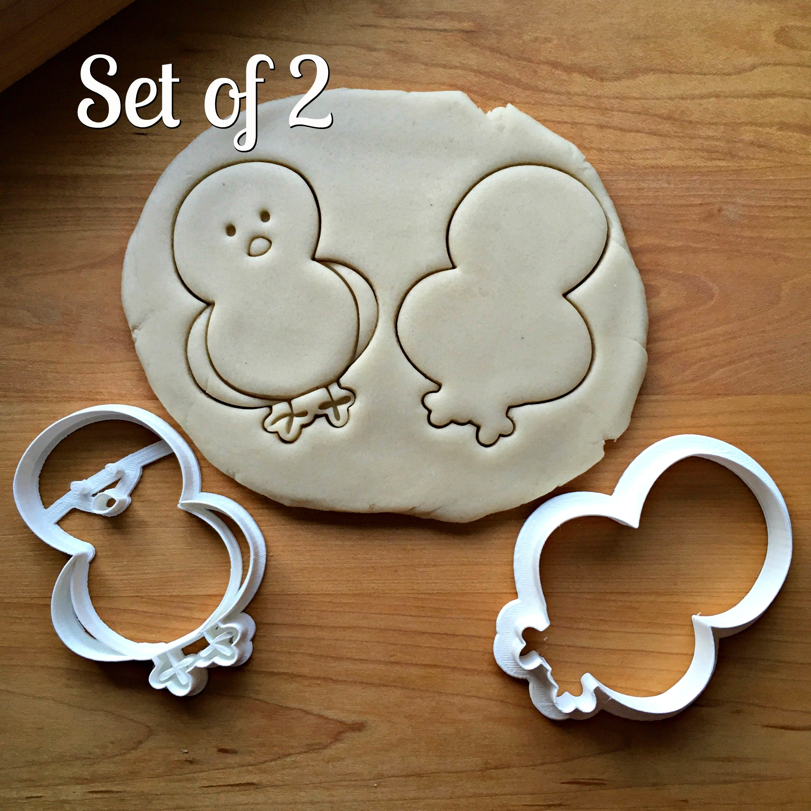 Set of 2 Baby Chick Cookie Cutters/Dishwasher Safe