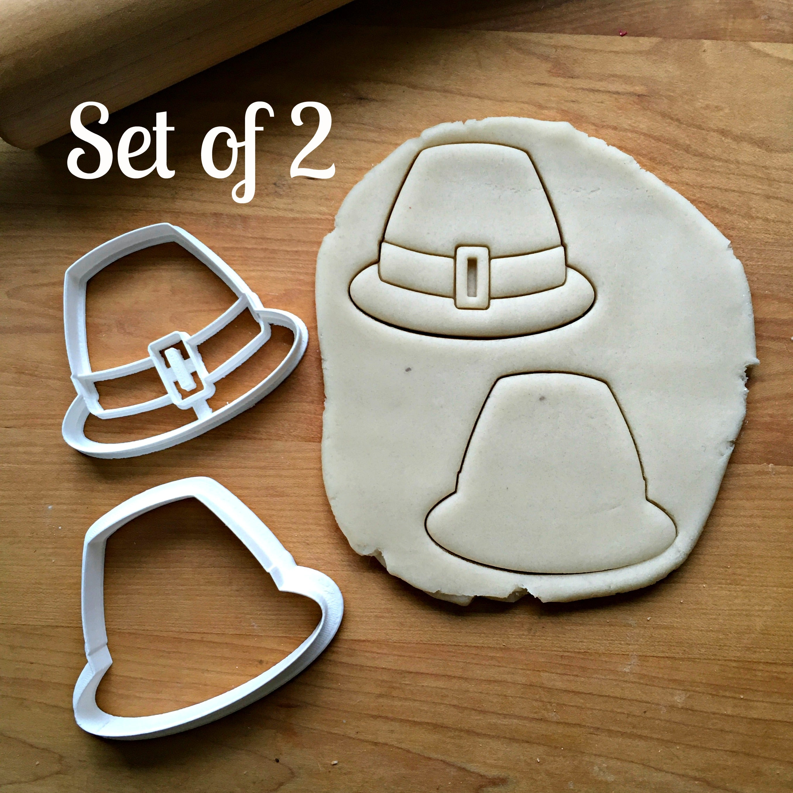 Set of 2 Leprechaun Hat Cookie Cutters/Dishwasher Safe
