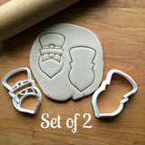 Set of 2 Leprechaun Face Cookie Cutters/Dishwasher Safe