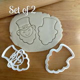 Set of 2 Smiling Leprechaun Face Cookie Cutters/Dishwasher Safe