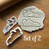 Set of 2 Race Car Cookie Cutter/Dishwasher Safe