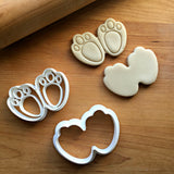 Set of 2 Bunny Paw Print Cookie Cutters/Dishwasher Safe
