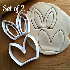 Set of 2 Bunny Ears Cookie Cutters/Dishwasher Safe