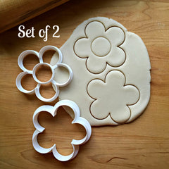 Set of 2 Daisy/Flowers Cookie Cutters/Dishwasher Safe