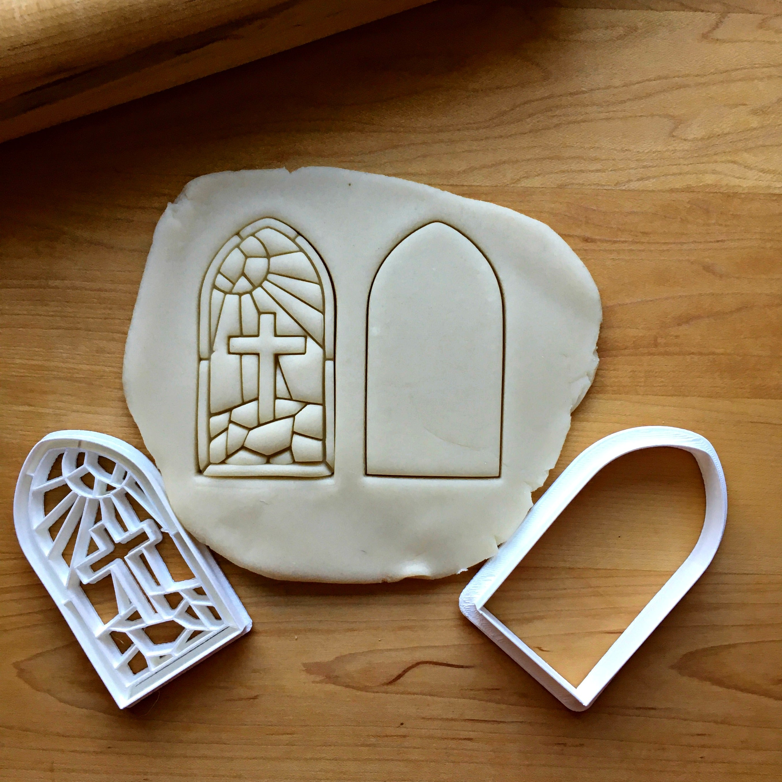 Set of 2 Stained Glass Window Cookie Cutters/Dishwasher Safe