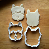 Set of 2 Yorkie/Terrier Dog Cookie Cutters/Dishwasher Safe