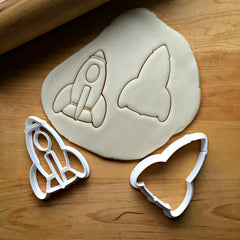 Set of 2 Rocket Ship Cookie Cutters/Dishwasher Safe