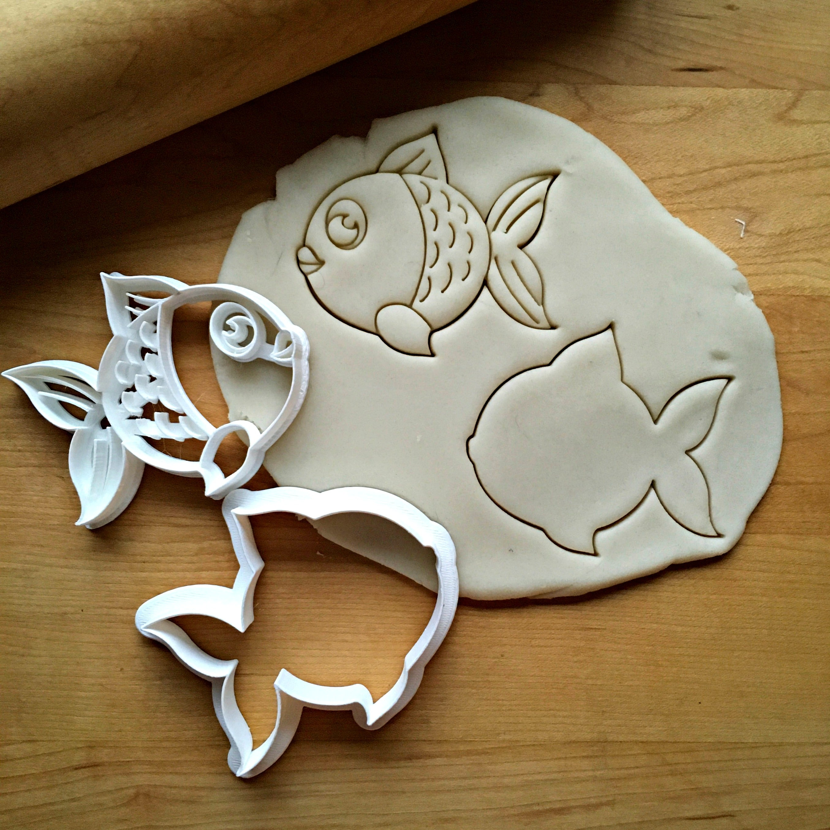 Set of 2 Fish Cookie Cutters/Dishwasher Safe
