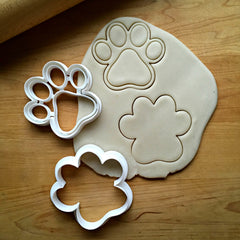 Set of 2 Paw Print Cookie Cutters/Dishwasher Safe