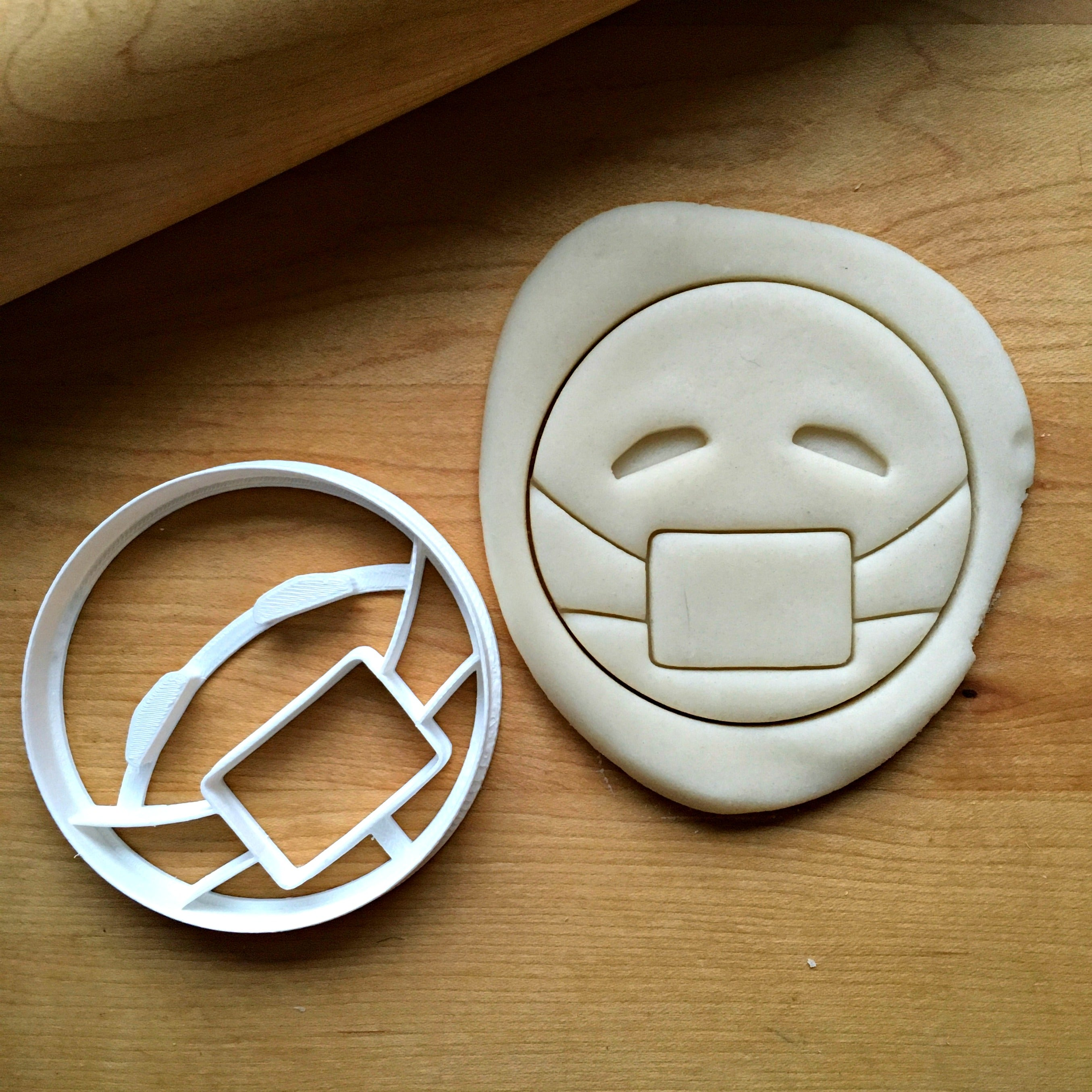 Masked Emoji Cookie Cutter/Dishwasher Safe