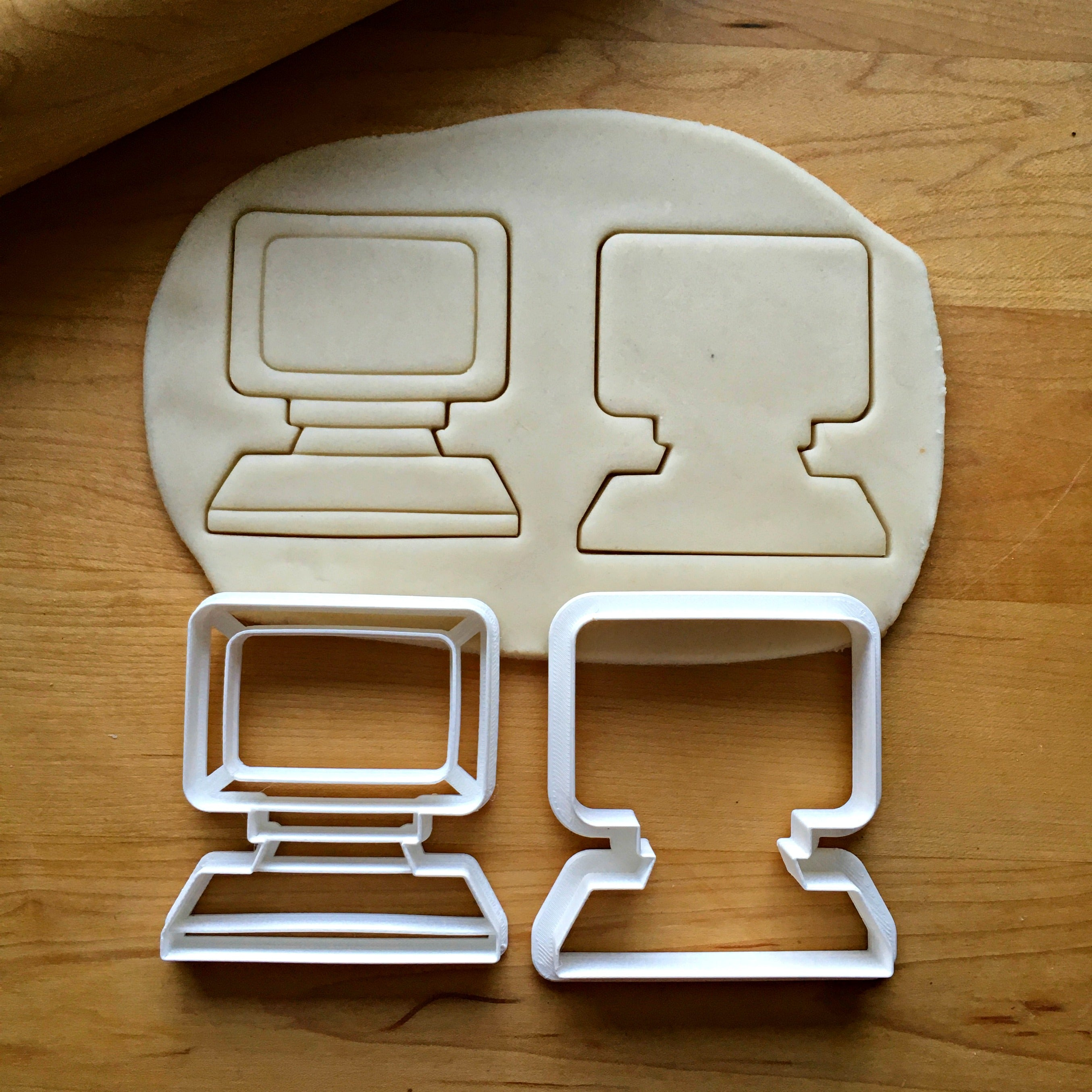 Set of 2 Computer Cookie Cutters/Dishwasher Safe