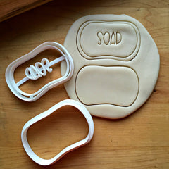 Set of 2 Bar of Soap Cookie Cutters/Dishwasher Safe