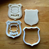 Set of 2 Police Badge Cookie Cutters/Dishwasher Safe