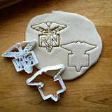 Set of 2 Nurse/RN Cookie Cutters/Dishwasher Safe