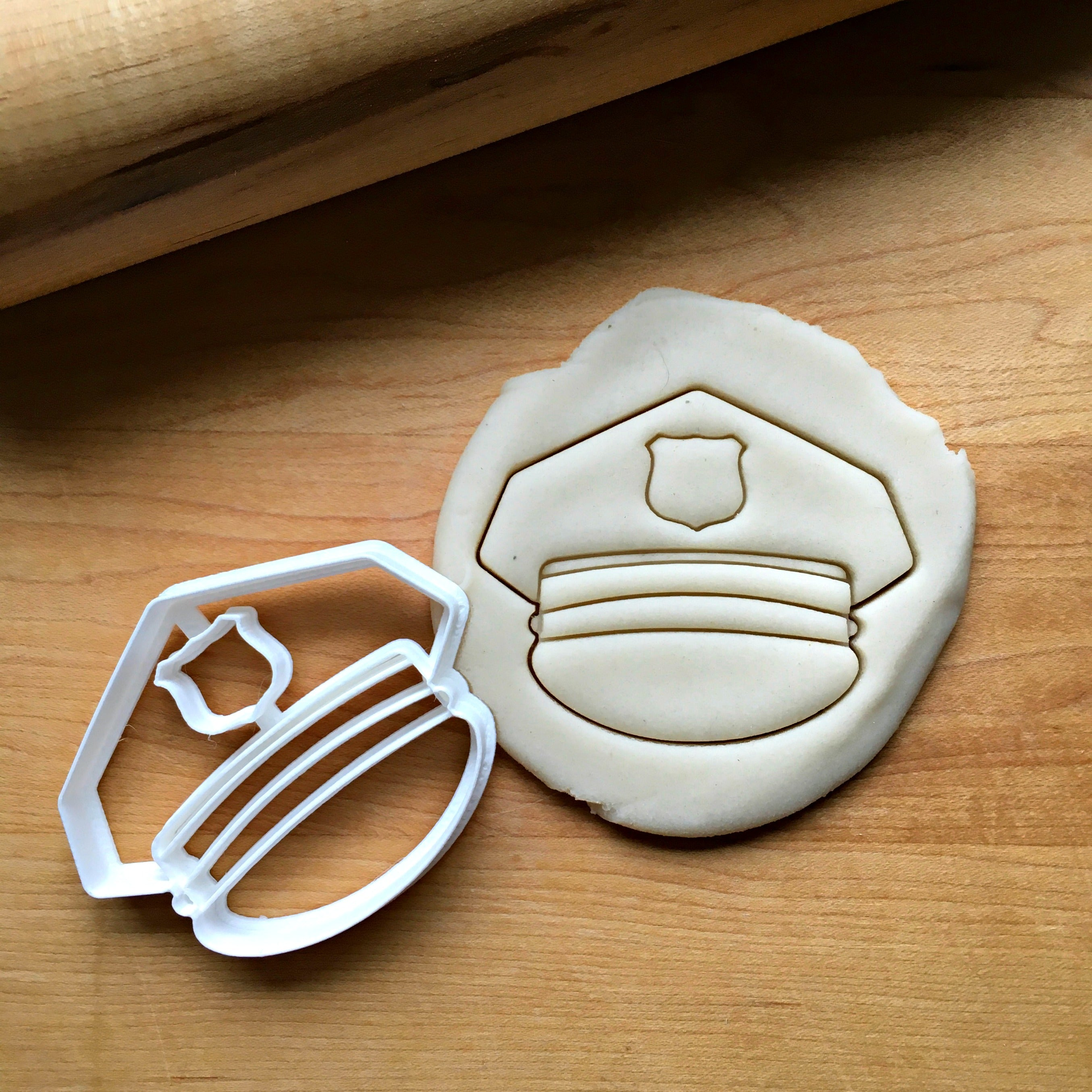Police Cap Cookie Cutter/Dishwasher Safe