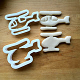 Set of 2 Helicopter Cookie Cutters/Multi-Size/Dishwasher Safe