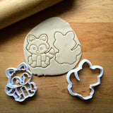 Set of 2 Fox/Raccoon Cookie Cutters/Dishwasher Safe