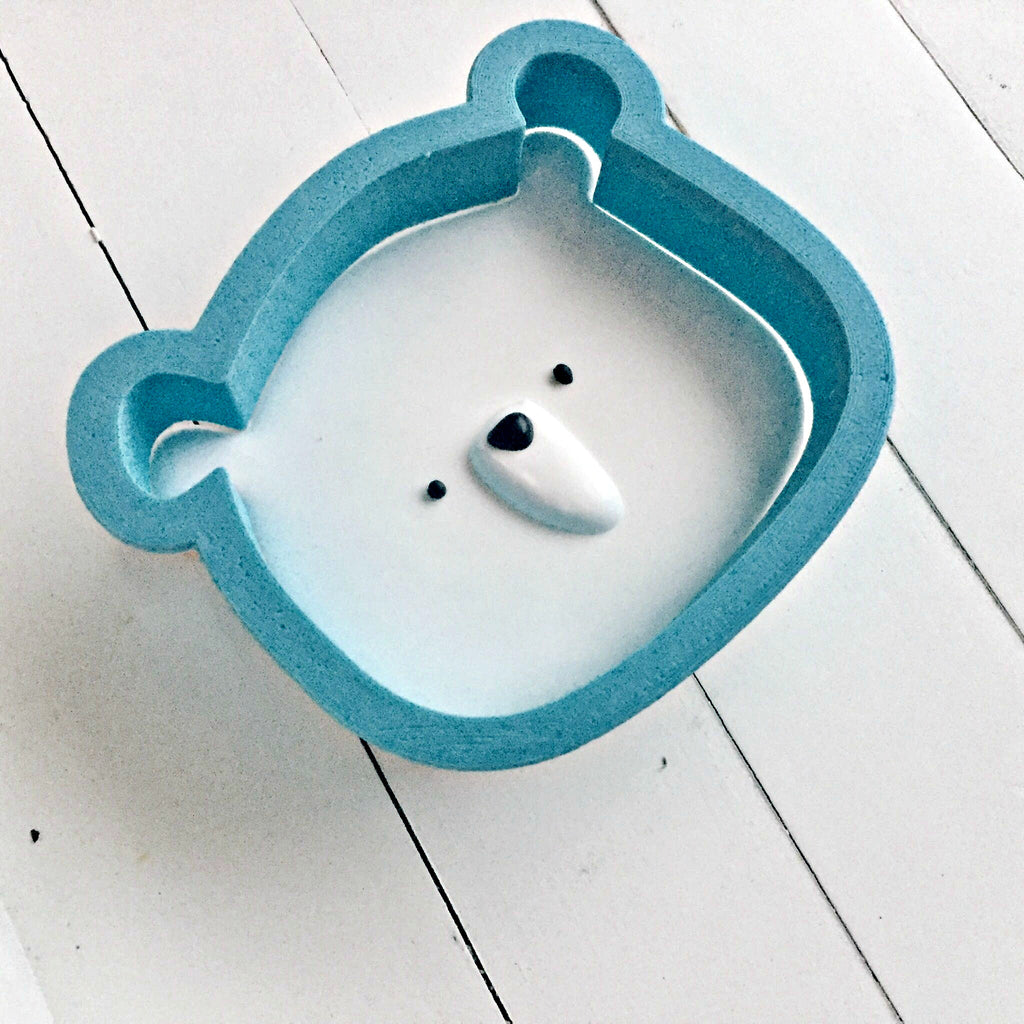 Cute Bear Cookie Cutter/Dishwasher Safe/Template Included