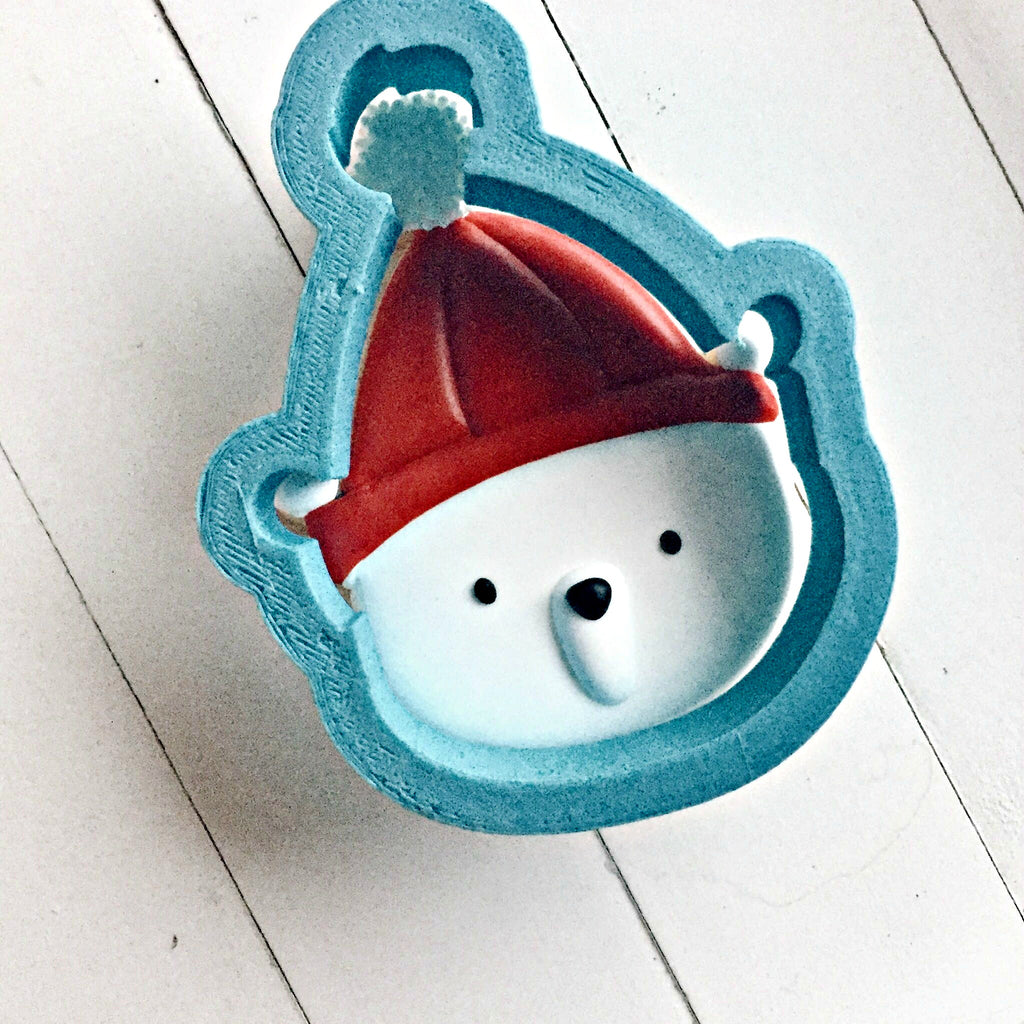 Cute Bear with Hat Cookie Cutter/Dishwasher Safe/Template Included