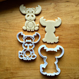 Set of 2 Baby Moose Cookie Cutters/Dishwasher Safe