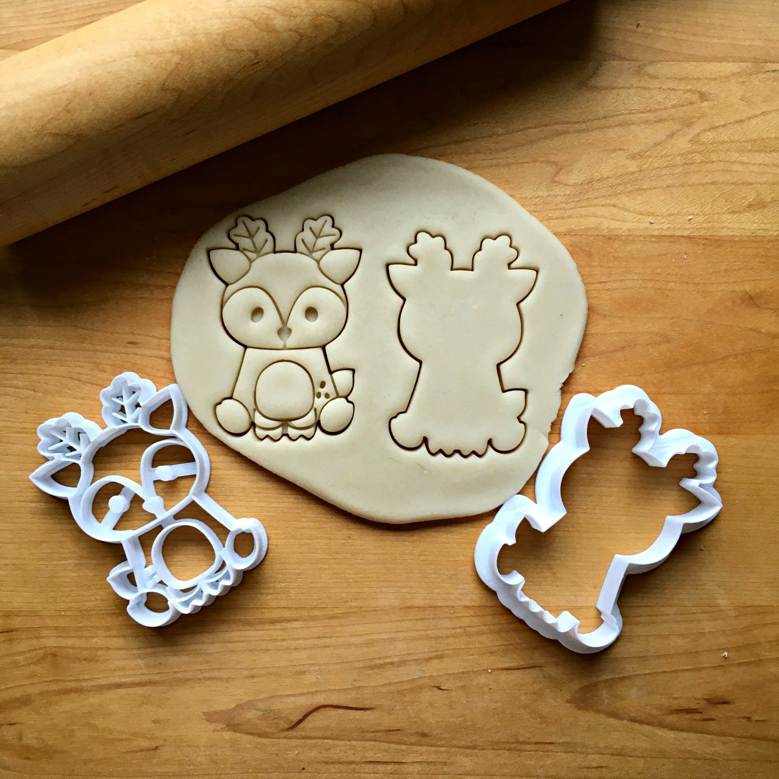 Set of 2 Baby Deer Cookie Cutters/Dishwasher Safe