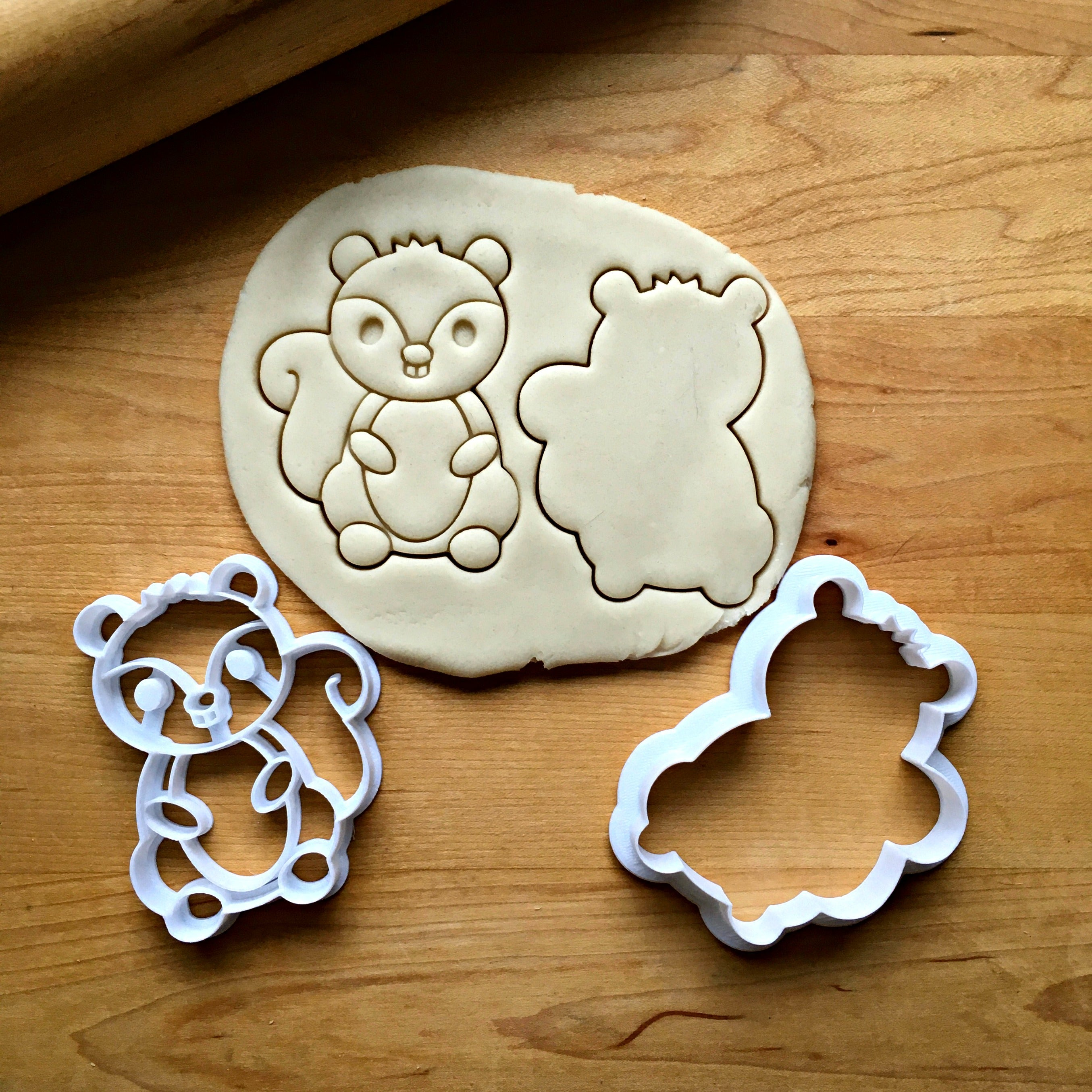 Set of 2 Baby Squirrel Cookie Cutters/Dishwasher Safe
