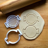 Set of 2 Grill Top Cookie Cutters/Dishwasher Safe
