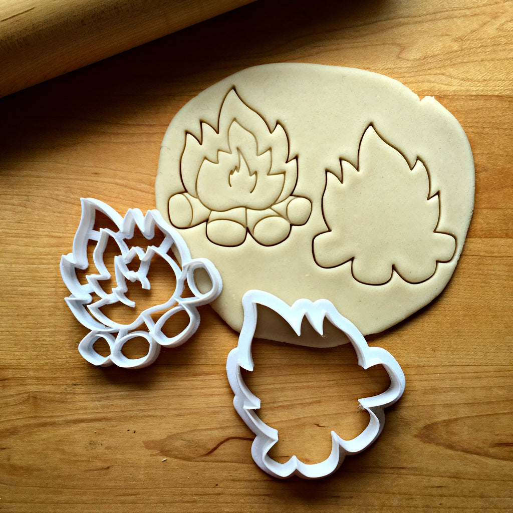 Set of 2 Campfire Cookie Cutters/Dishwasher Safe