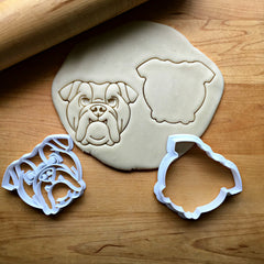 Set of 2 Bull Dog Cookie Cutters/Dishwasher Safe