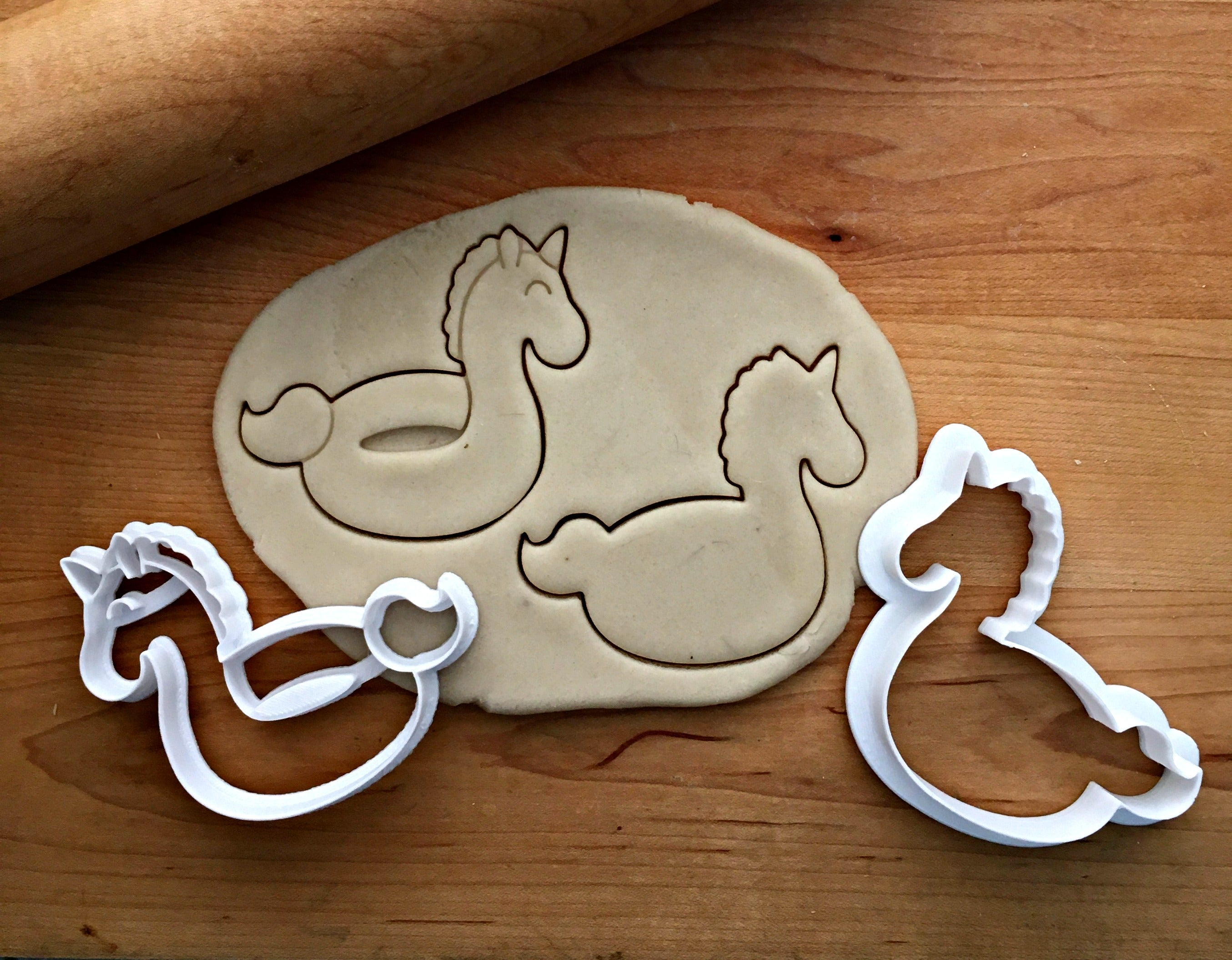 Set of 2 Unicorn Pool Floatie Cookie Cutters/Dishwasher Safe