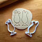 Set of 2 Tall Tropical Drink Cookie Cutters/Dishwasher Safe