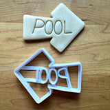 Pool Sign Cookie Cutter/Dishwasher Safe